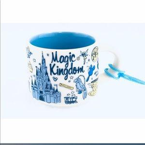 Disney starbucks magic kingdom ornament FIRM